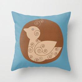 Spiral Bird Throw Pillow
