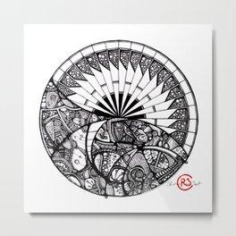 Horizon Mandala Metal Print