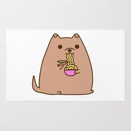 Pupsheen Eating Ramen Rug