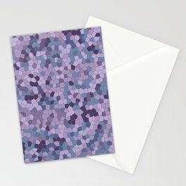 Mosaic pattern violet blue purple colors Stationery Cards