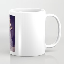 relaxed on the bar stool - Naked women Coffee Mug