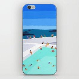 Santorini sun iPhone Skin