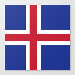Iceland flag emblem Canvas Print