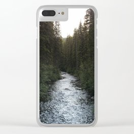 A Forest Path Clear iPhone Case