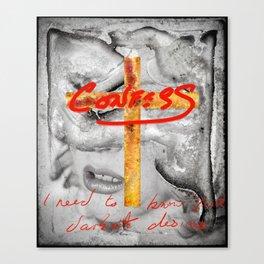 CONFESS Canvas Print