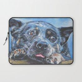 Australian Cattle Dog portrait by L.A.Shepard fine art painting blue heeler Laptop Sleeve
