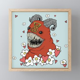 Lovey Devil Framed Mini Art Print