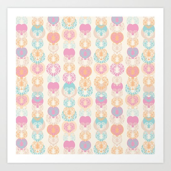 Lace Hearts Art Print