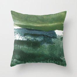 Encaustic Abstract No.27O by Kathy Morton Stanion Throw Pillow