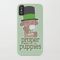 puppies iPhone & iPod Cases featuring Proper Puppies by Jillian Story (TalaSeba)