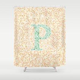 """""""P"""" Eye Test Full Shower Curtain"""