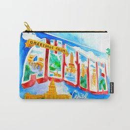 Greetings From Austin Mural watercolor Carry-All Pouch