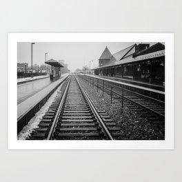 Winter Commute Art Print