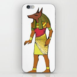 Ancient Egyptian Painting - Anubis, the Wolf God iPhone Skin