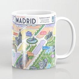 MADRID CITY by Javier Arrés. Madrid Map Illustration. Coffee Mug