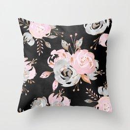 Night Roses 2 Throw Pillow
