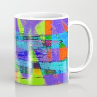 stockholm Mugs featuring stockholm graffic by David Mark Lane