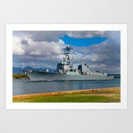Navy ship 2 Art Print