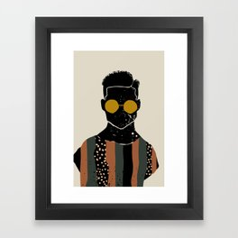 Black Hair No. 7 Framed Art Print