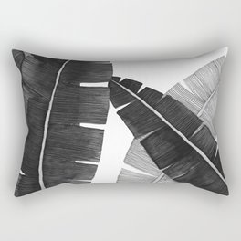 Banana Leaves BW Rectangular Pillow