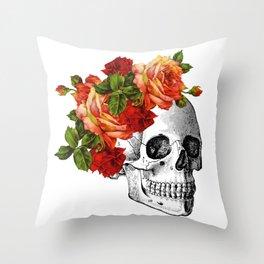 Dia De Los Muertos Sugar Skull Throw Pillow