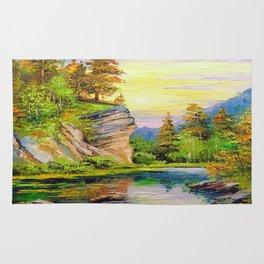 Mountain stream Rug
