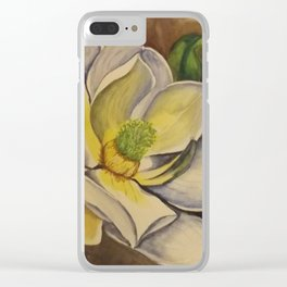 sweet magnolia Clear iPhone Case