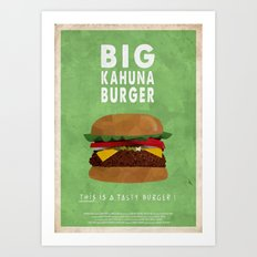 Pulp Fiction - big kahuna burger Art Print