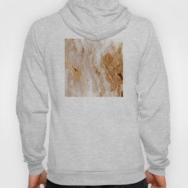 Glamorous Gold Glitter Vein Marble With Copper Sparkles Hoody