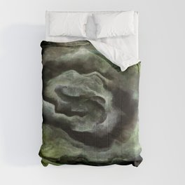 After A Storm In Yellow and Ultimate Gray Abstract Art Comforters