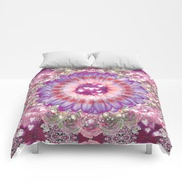 pink love daisy Comforters