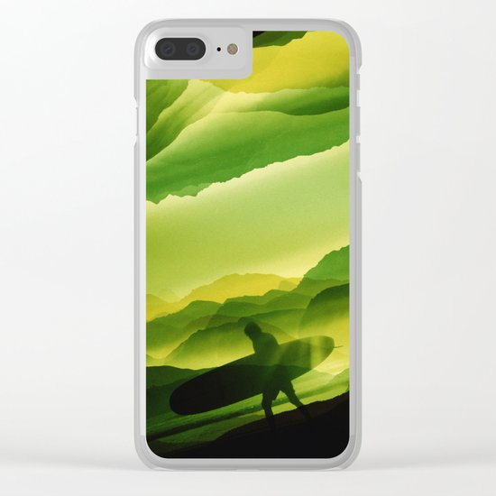 Plastic Surfing Clear iPhone Case