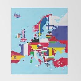 Europe flags Throw Blanket