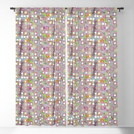 Square pink line Blackout Curtain
