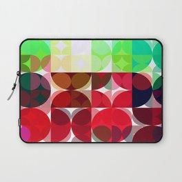 Mixed color Poinsettias 3 Abstract Circles 3 Laptop Sleeve