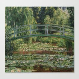 1899-Claude Monet-The Japanese Footbridge and the Water Lily Pool, Giverny-89 x 93 Canvas Print