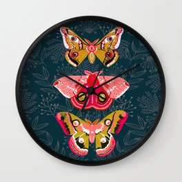 Lepidoptery No. 4 by Andrea Lauren Wall Clock