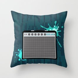 Reverb Electric Amplifier Throw Pillow