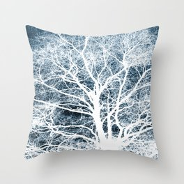 Tree silhouette Throw Pillow