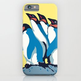 Four Penguins iPhone Case