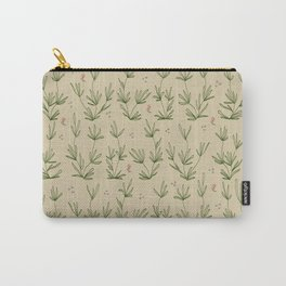 Desert Tan with Coral Blooms Carry-All Pouch