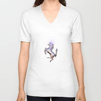 ferrari V-neck T-shirts featuring Ferrari by JT Digital Art