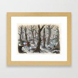 A Forest Framed Art Print