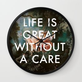 Swing Without A Care Wall Clock