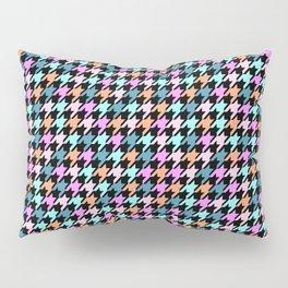 Rainbow Hounds Tooth Pillow Sham