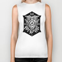 all seeing eye Biker Tanks featuring All Seeing Eye by girlxboy