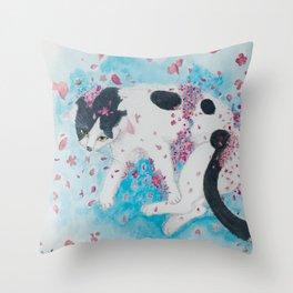 Melting into Blossom Throw Pillow
