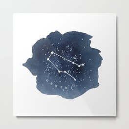 gemini constellation zodiac Metal Print