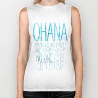 ohana Biker Tanks featuring OHANA by Sara Eshak