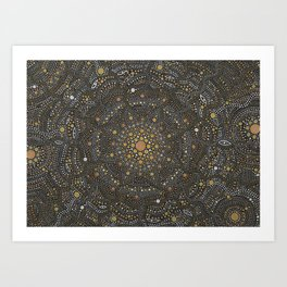 Cosmic Breath - Dot Mandala Art Print